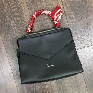 Lancaster Paris Adele Leather Satchel Black